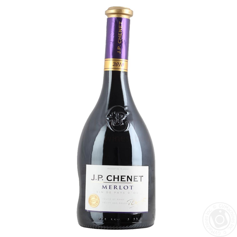 Вино красное Жан Поль Шене Мерло Вэн Дэ Пей Д'Ок натуральное виноградное полусухое 13% 750мл