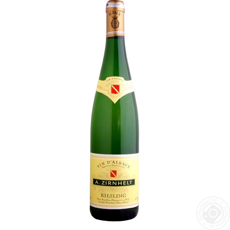 Вино A.Zirnhelt Riesling белое полусладкое 0,75л