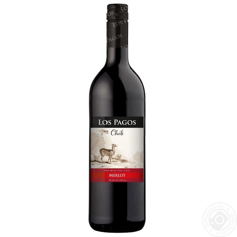 Вино Los Pagos Мерло красное сухое 750мл