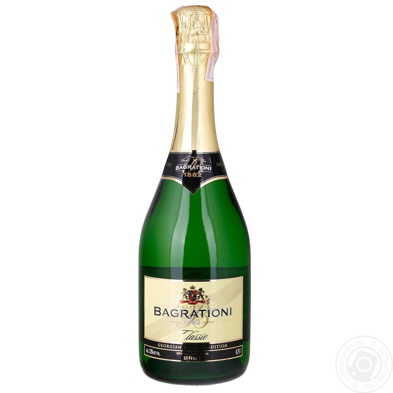Игристое вино Bagrationi белое брют 750мл