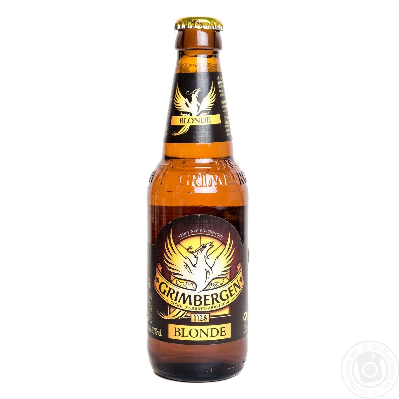 Пиво Гримберген Блонд светлое специальное пастеризованное 6.3%об. 330мл