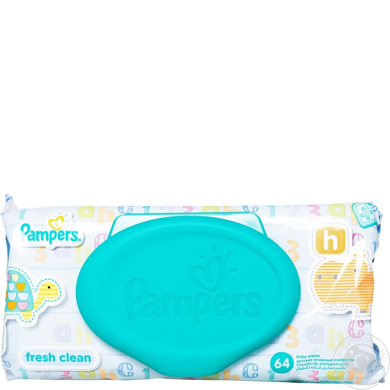 Салфетки детские влажные Pampers Baby Fresh Clean 64шт