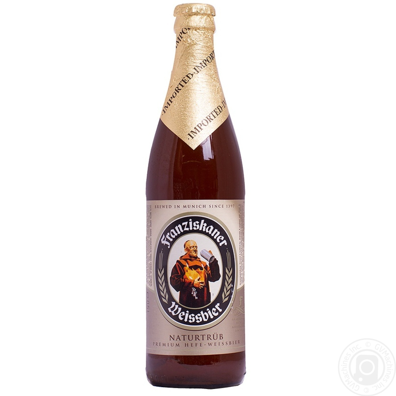 Пиво Францисканер Хифе Вайсбир Натуртрюб светлое пастеризованное 5%об. 500мл