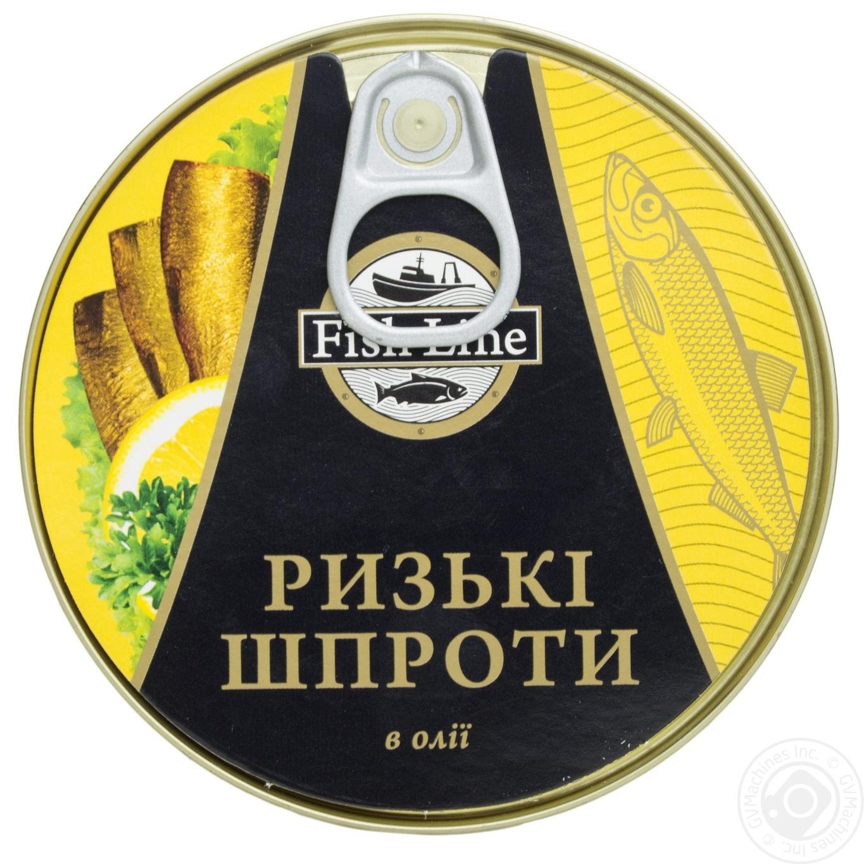 Консерва FishLine Шпроты рижские в масле 160г