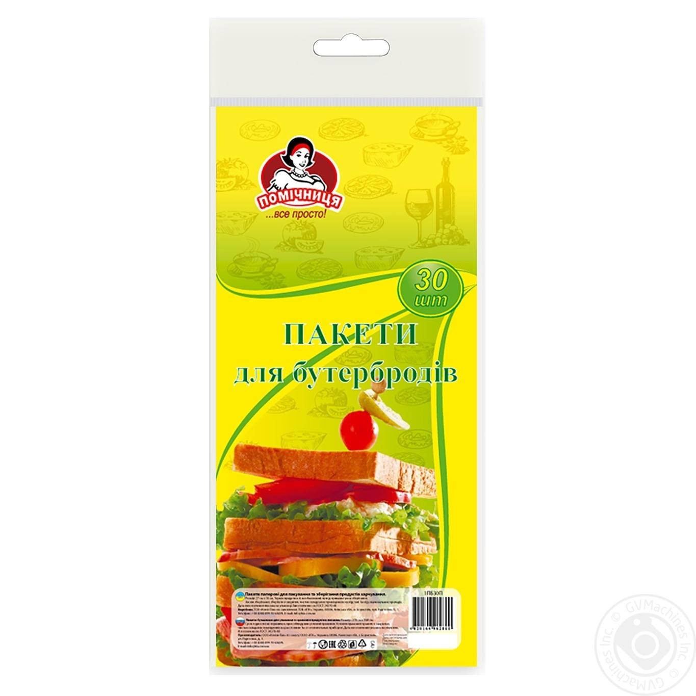 Пакеты Помощница бумажные для бутербродов 30шт