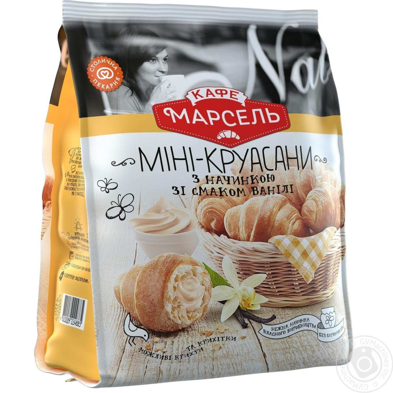 Мини-круассаны Кафе Марсель с начинкой со вкусом ванили 180г