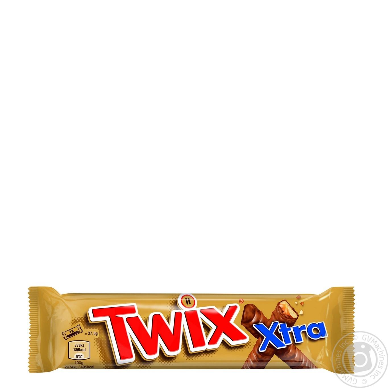 Батончик Twix в молочном шоколаде 75г