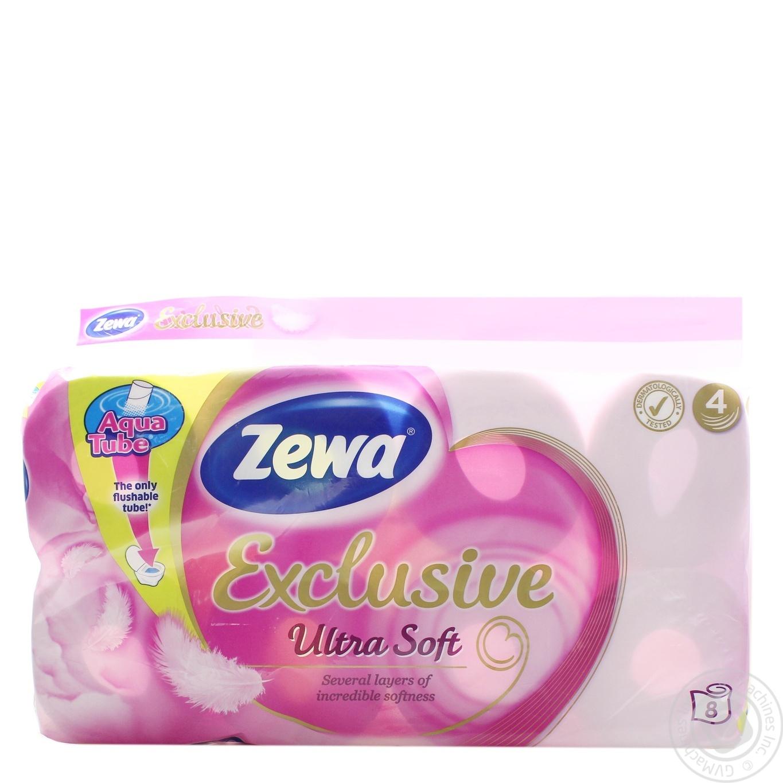 Туалетная бумага Zewa Exclusive Ultra Soft 4 слоя 8шт
