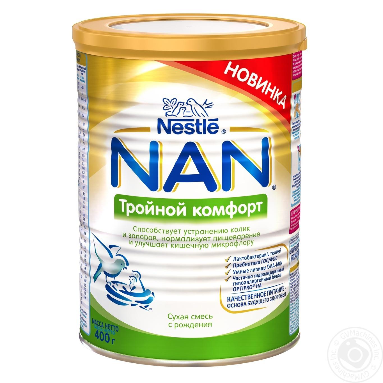 Сухая смесь детская Nestle NAN с рождения Тройной комфорт 400г