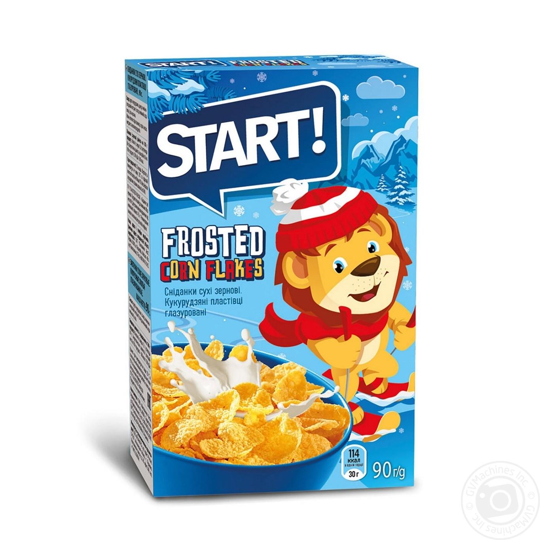 Сухие завтраки Старт хлопья кукурузные глазированные 90г