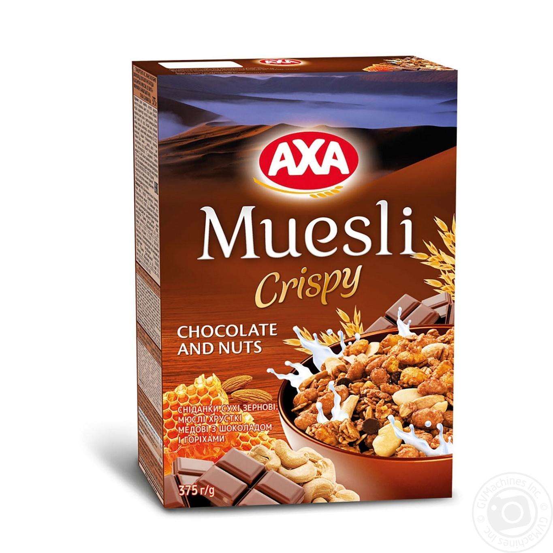 Мюсли АХА хрустящие медовые с шоколадом и орехами 375г