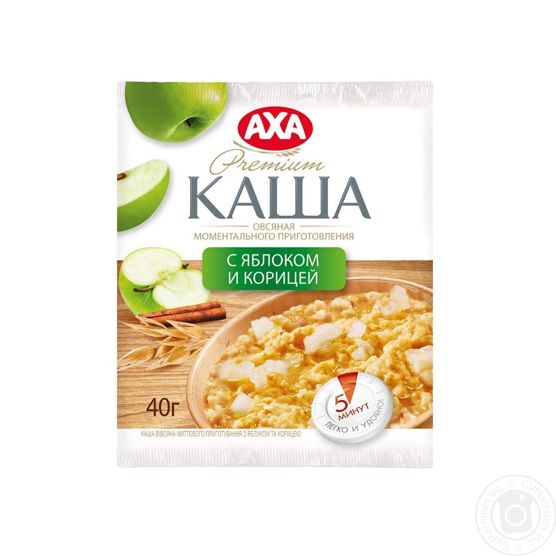 Каша АХА овсяная с яблоком и корицей быстрого приготовления 40г