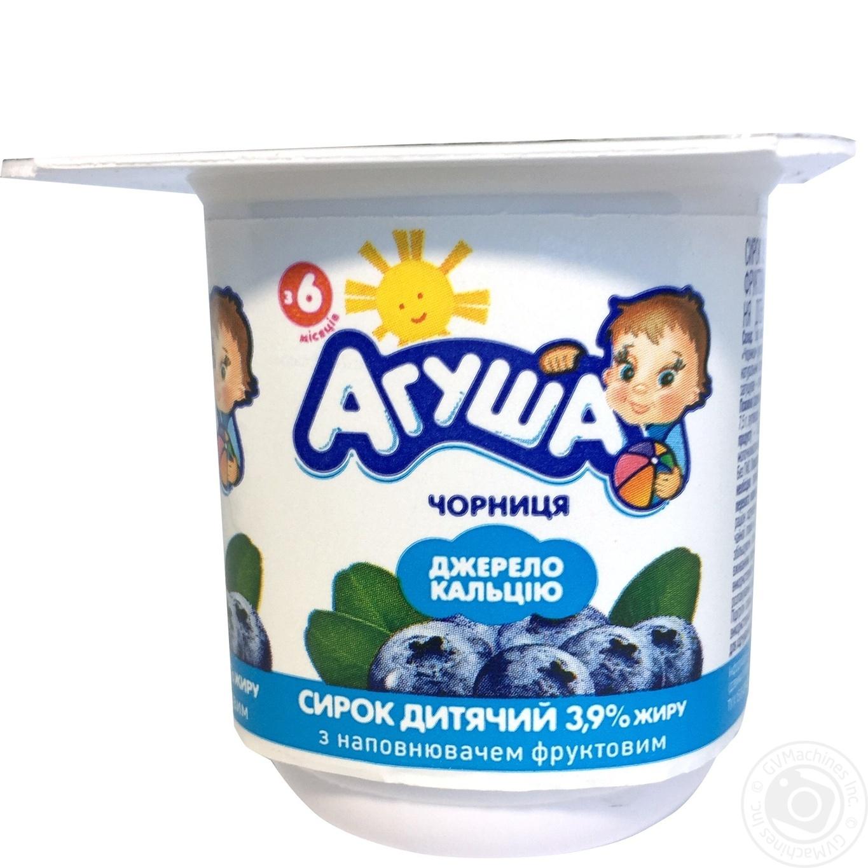 Сирок Агуша с черникой 3,9% 100г