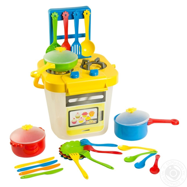 Набор детской игрушечной столовой посуды Ромашка 25эл