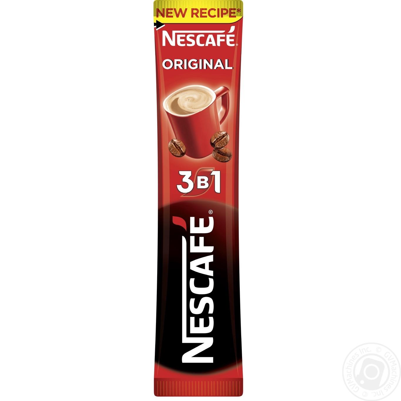 Напиток кофейный Nescafe 3в1 Original растворимый в стиках 16г