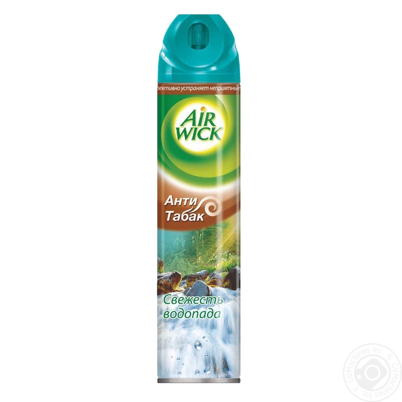 Освежитель воздуха Air Wick аэрозольный Анти-табак  Свежесть Водопада 240мл