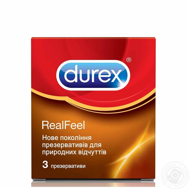Презервативы Durex RealFeel для естественных ощущений 3шт