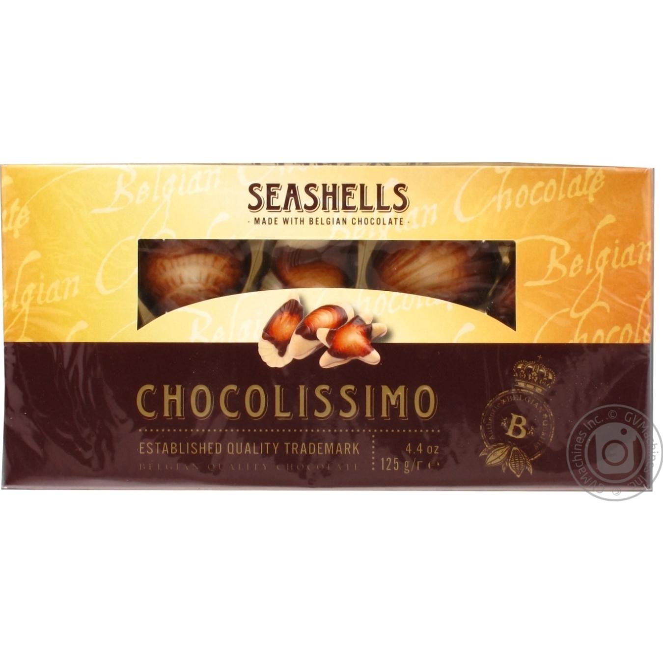 Шоколадные конфеты Seashells Chocolissimo с пралине 125г