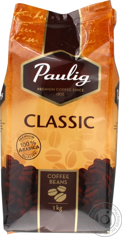 Кофе Paulig Classic в зернах в пакете 1кг