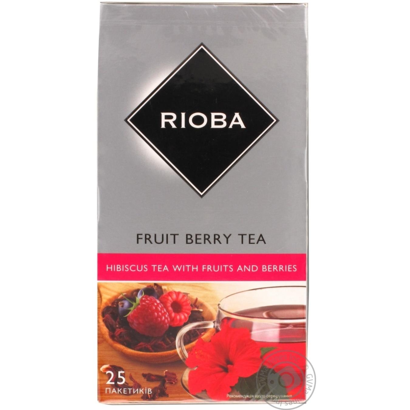 Чай фруктовый Rioba суданская роза 25шт*1.5г