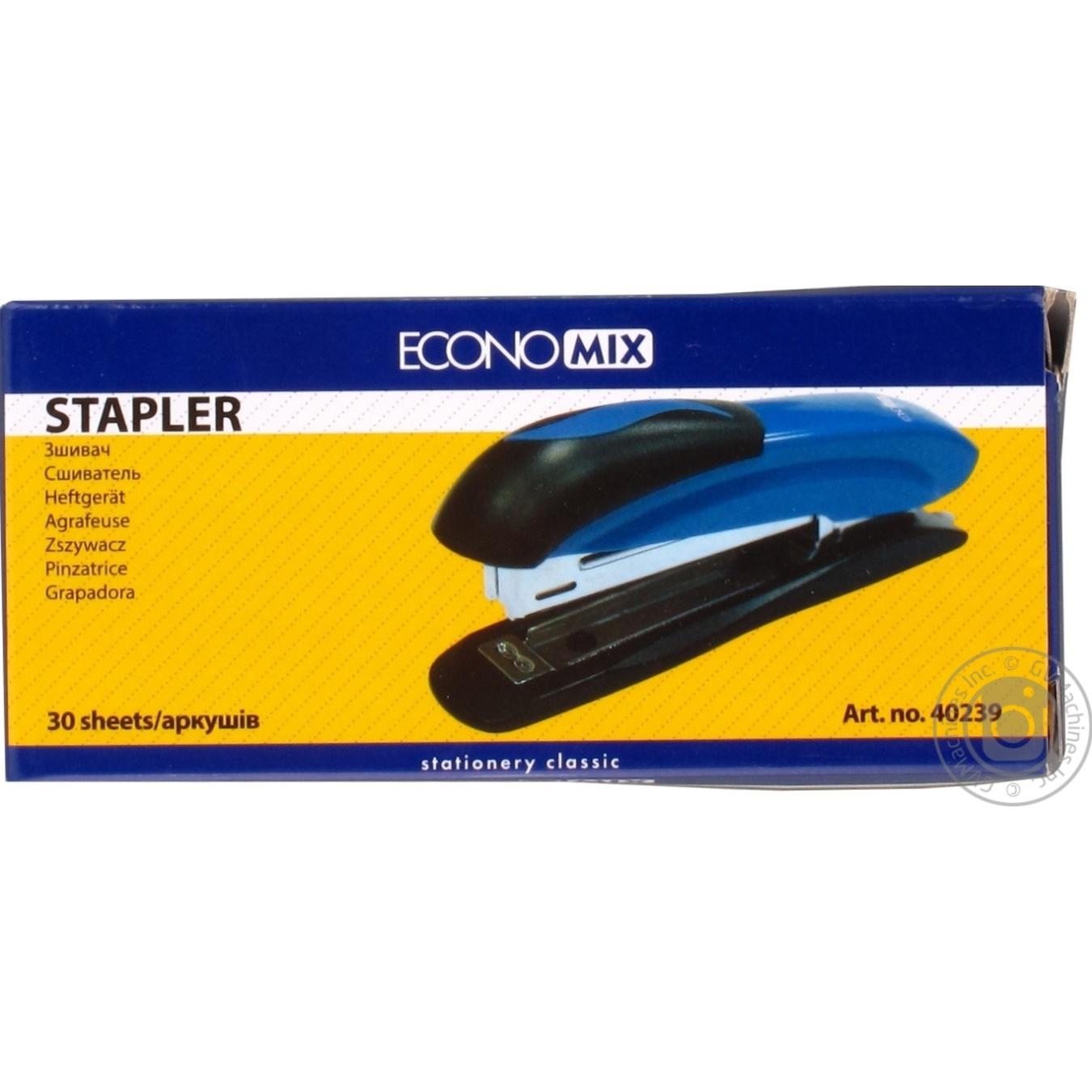 Сшиватель EconoMix №24/6, 26/6 до 30 листов металлический E40239