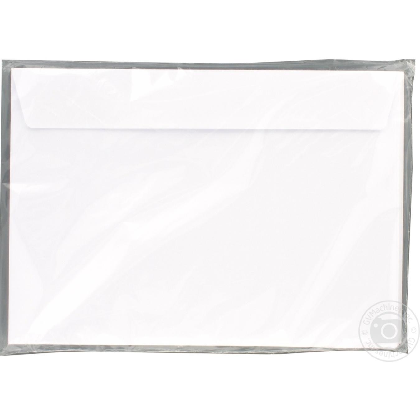 Конверт складной белый 80г/м2 20шт С5