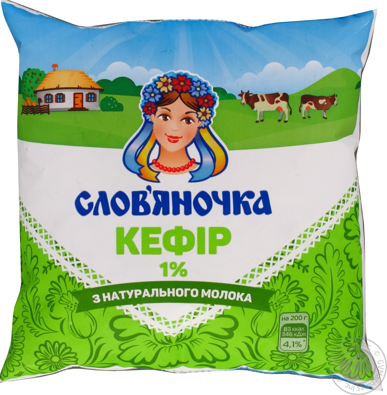 Кефир Славяночка 1% 425г