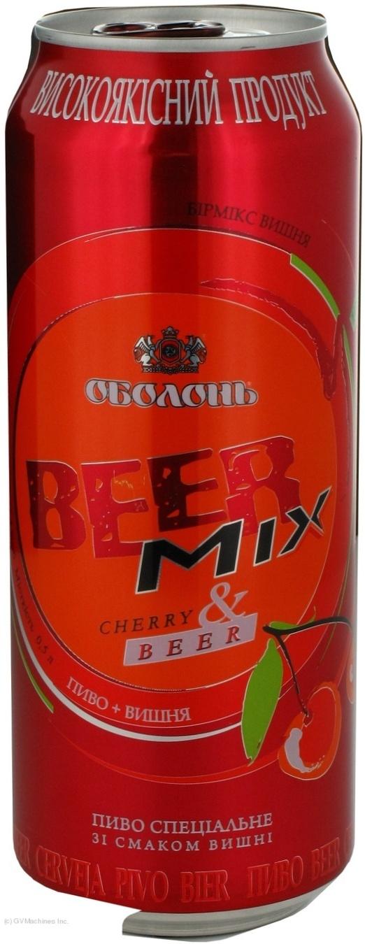 Пиво Оболонь Бирмикс Вишня специальное пастеризованное 2.4%об. 500мл
