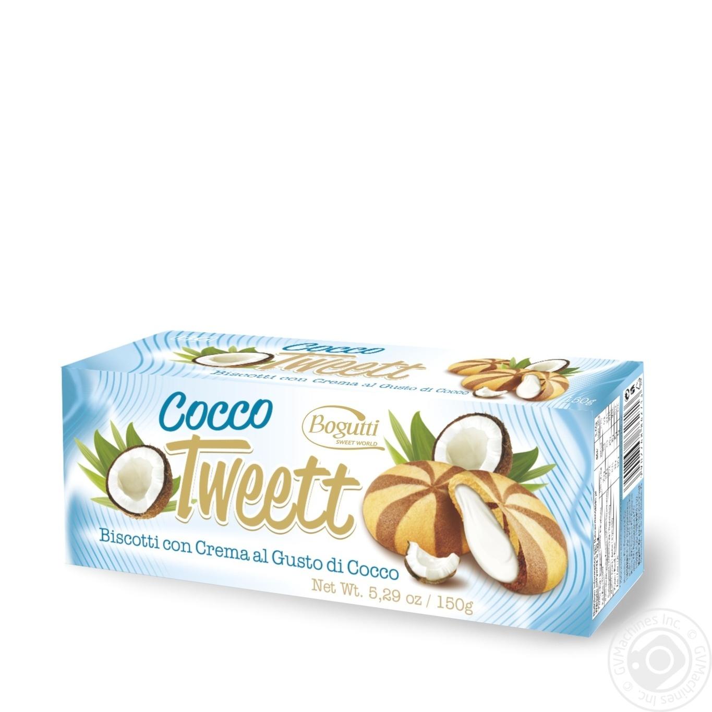 Печенье Bogutti Tweett с кремом со вкусом кокоса 150г