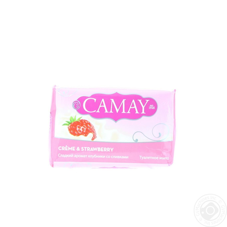 Camay Мыло туалетное Клубника со сливками 85г