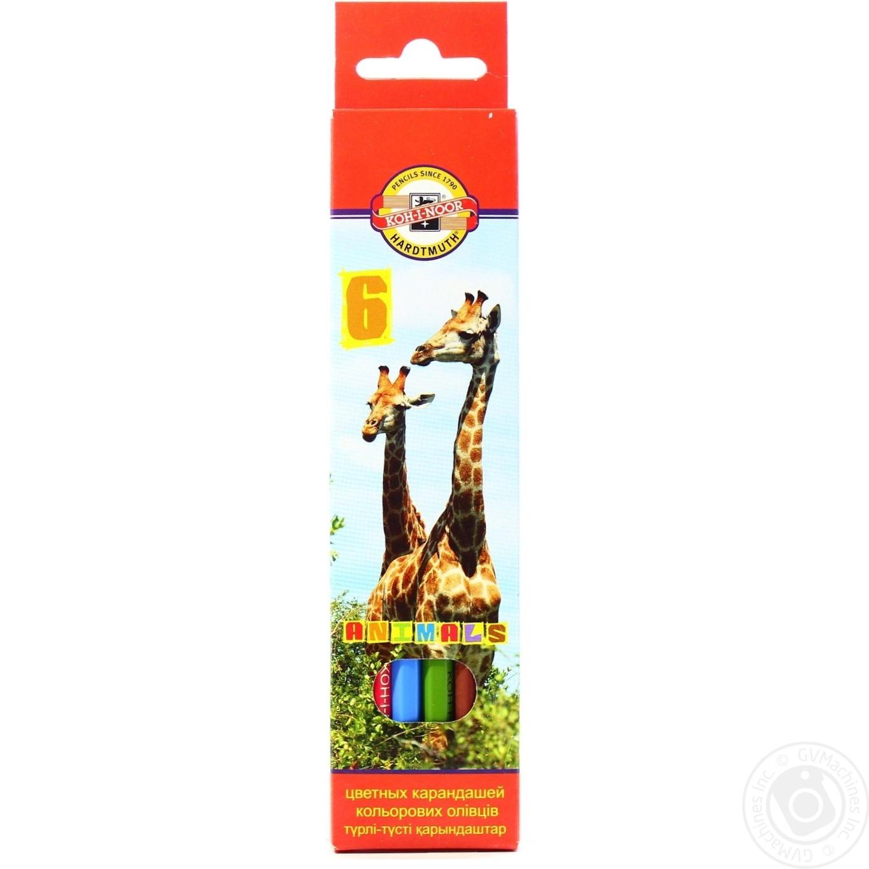 Карандаш Koh-I-Noor Animals цветные 6 цветов