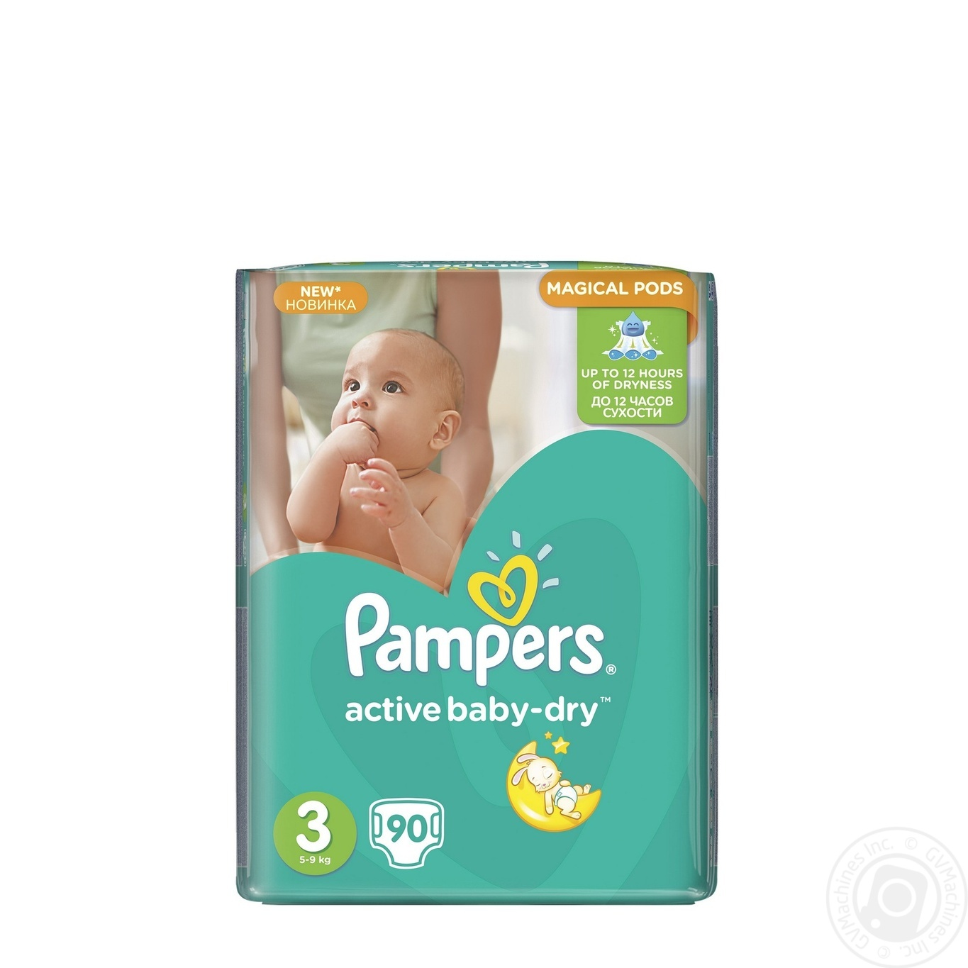 Подгузники Pampers Active Baby-Dry 3 Midi 5-9кг 90шт