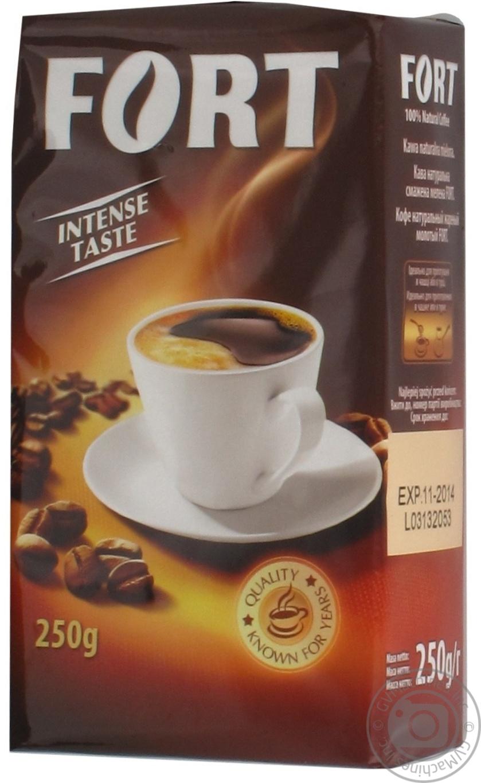 Кофе Fort натуральный жареный молотый 250г