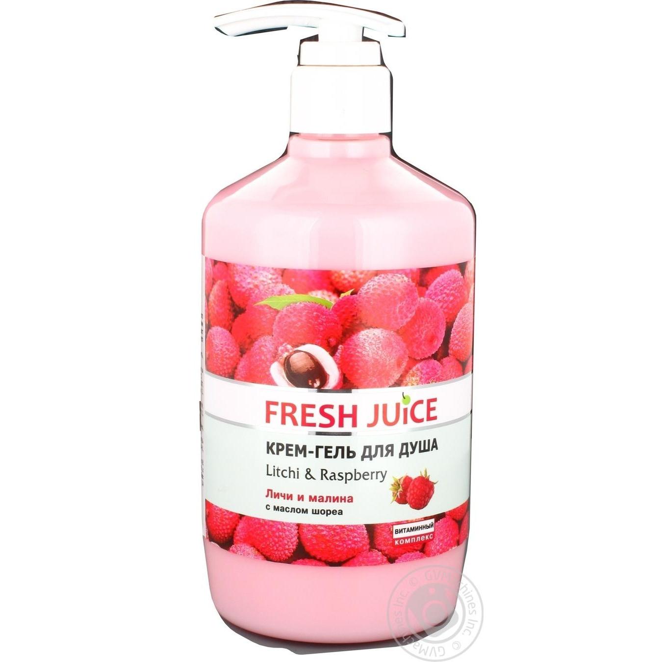 Гель для душа Fresh Juice Личи и малина 750мл