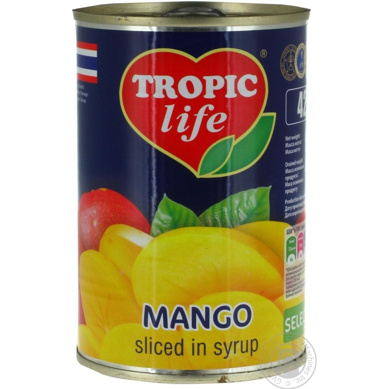 TROPIC LIFE MAНГО В СИРОПІ 425