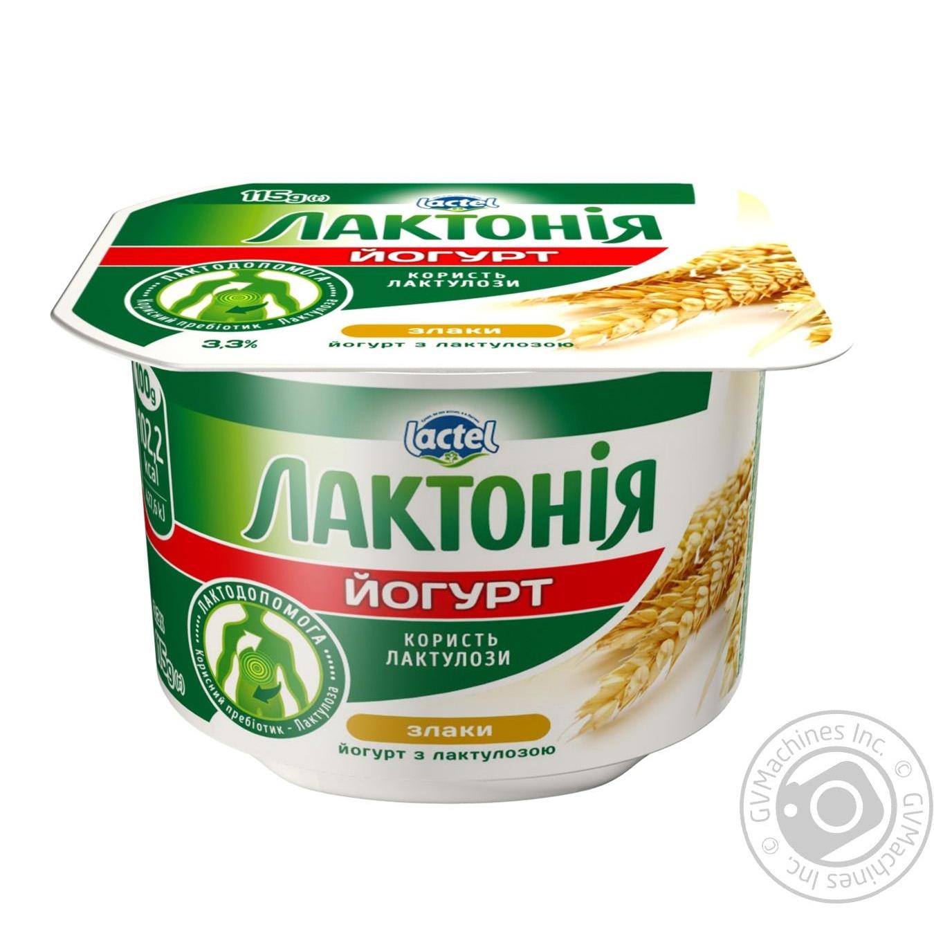 Йогурт Лактония Злаки с лактулозой  3.3% 115г