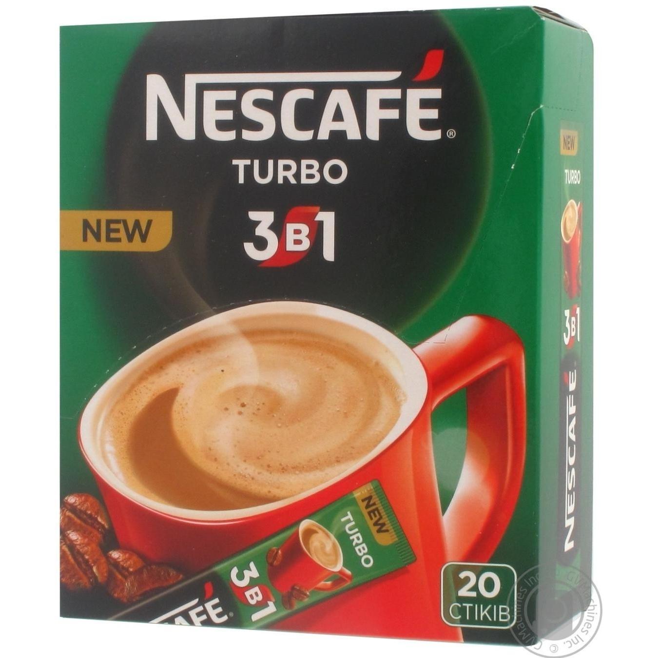 Напиток кофейный Nescafe 3в1 Turbo растворимый в стиках 20*13г