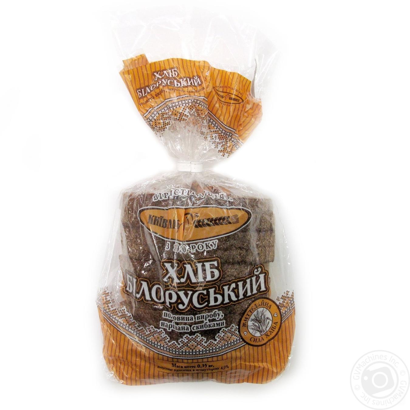 Хлеб Белорусский Киевхлеб половина нарезанная ломтиками 350г