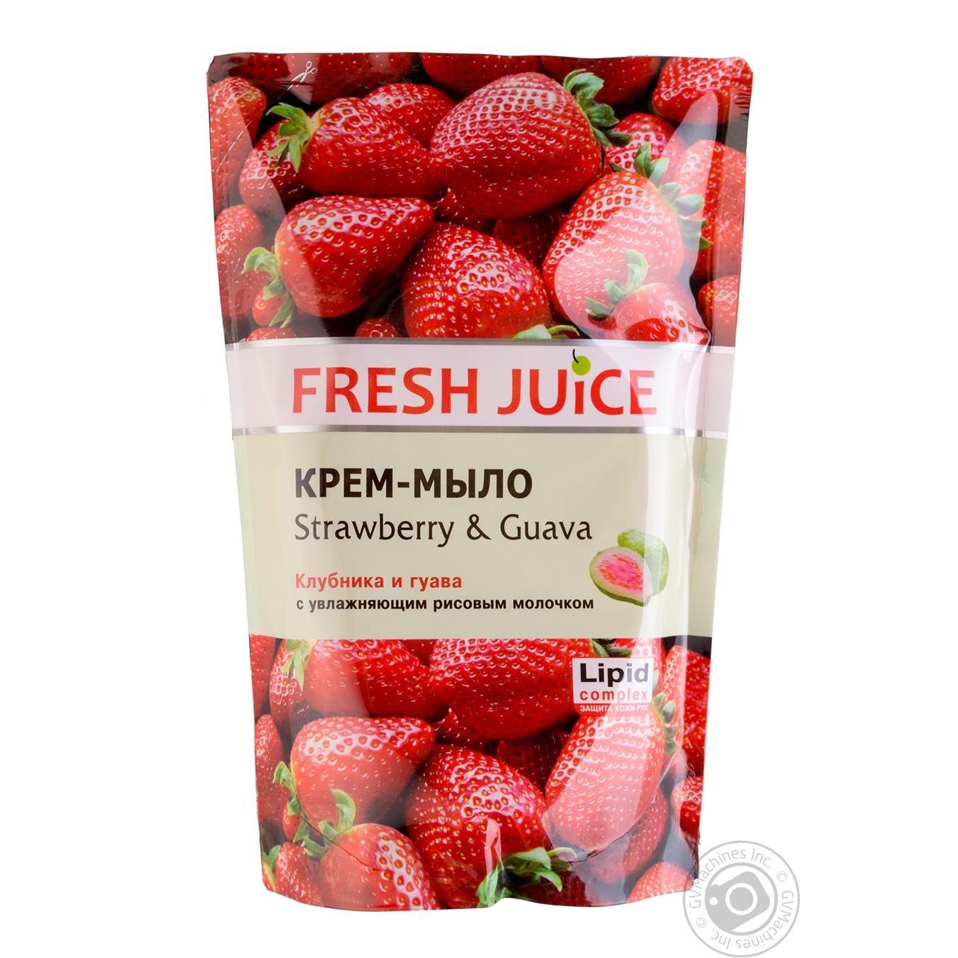 Мыло жидкое Fresh juice клубника и гуава дой-пак 460мл