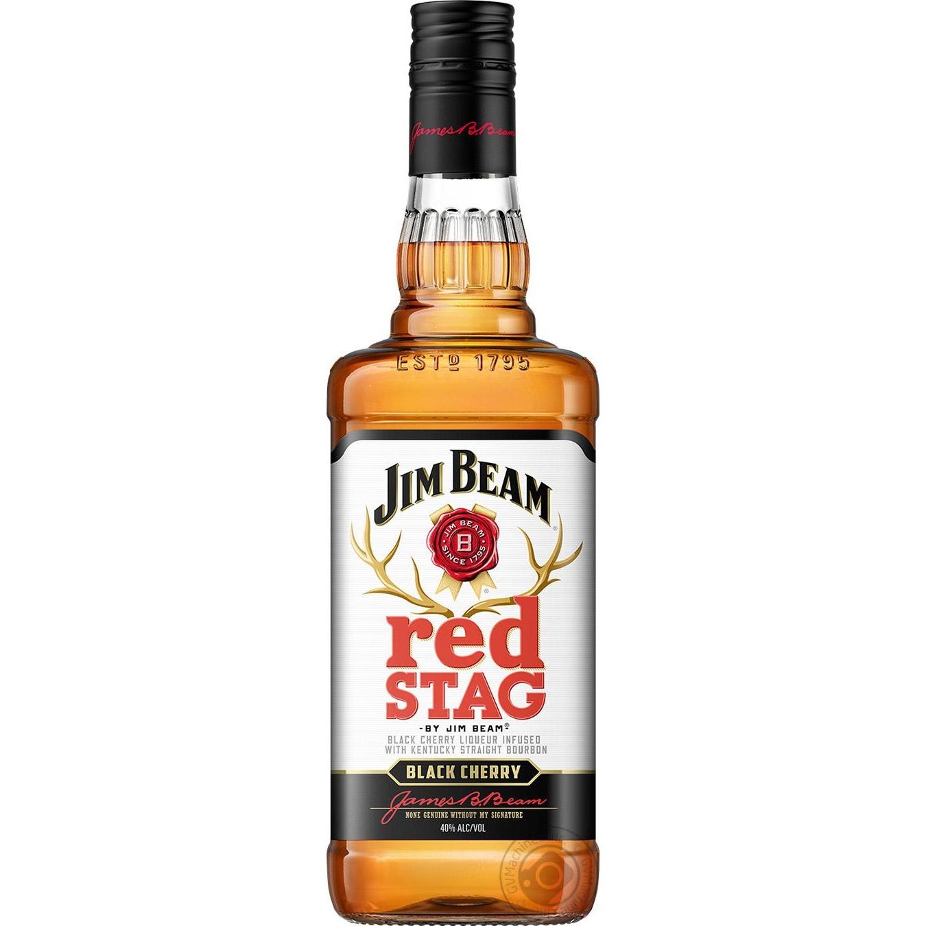 Виски Jim Beam Red Stag Black Cherry 40% 1000мл
