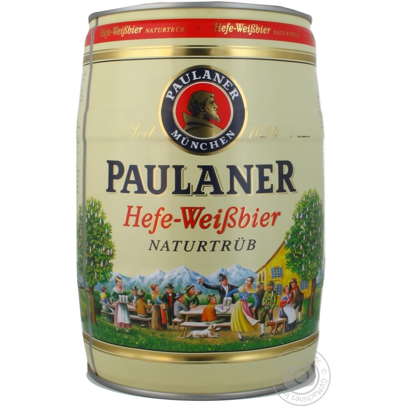 Пиво Пауланер Хефе-Вайсбир светлое нефильтрованное пастеризованное 5.5%об. 5000мл