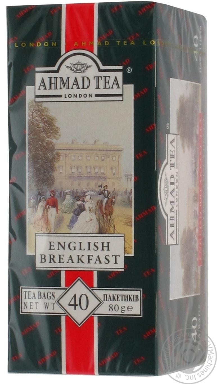 Черный чай Английский к завтраку в пакетиках 40х2г