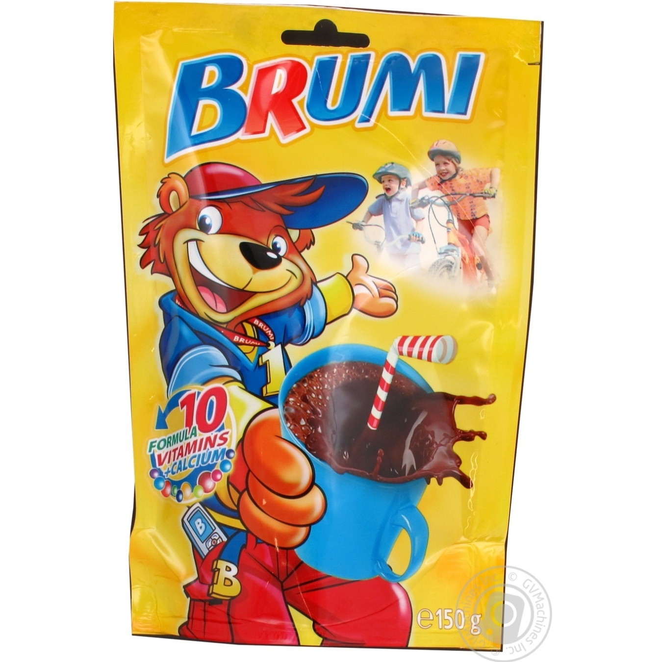 Какао-напиток Бруми растворимый витаминизированный с кальцием 150г