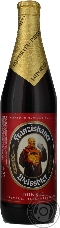 Пиво Францисканер Хифе Вайсбир Дункель темное пастеризованное 5%об. 500мл