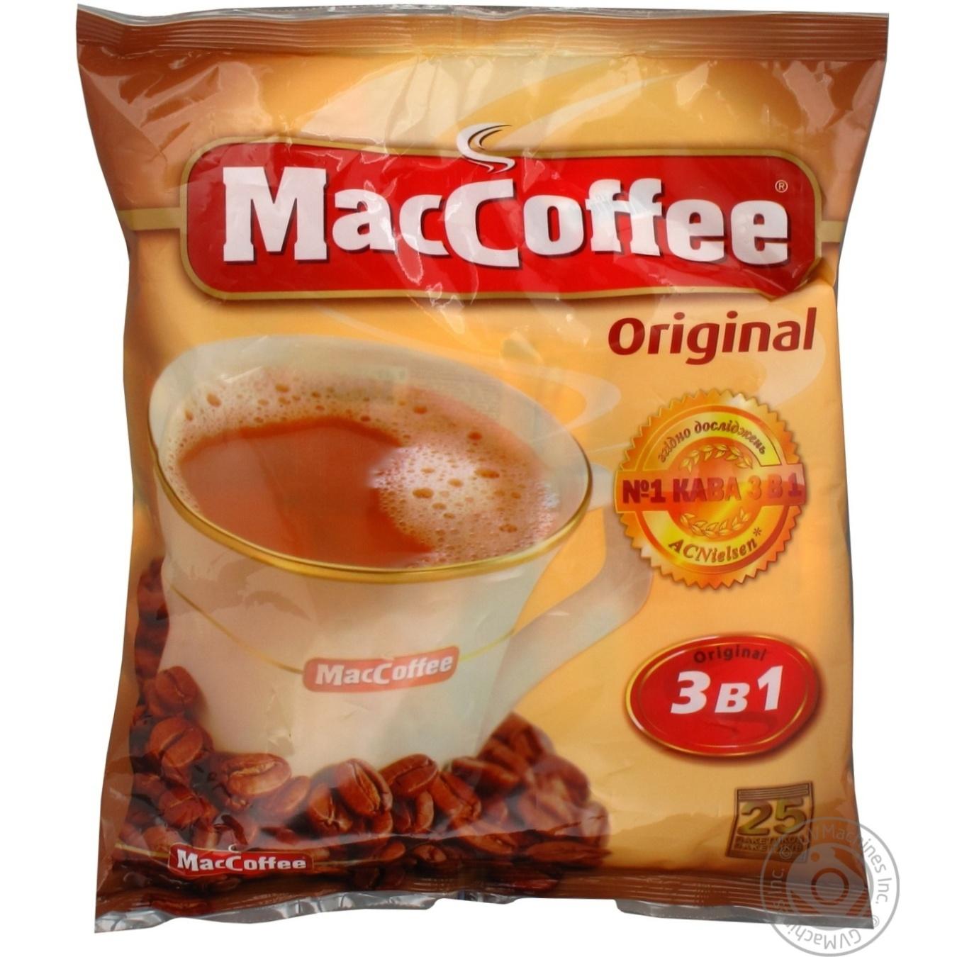 Напиток кофейный Маккофе 3в1 ориджинал растворимый в стиках 25х20г