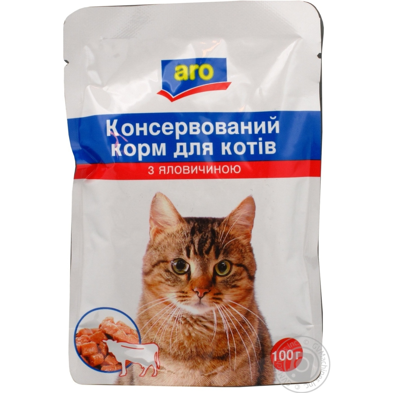 Корм Aro консервированный с говядиной для котов 100г