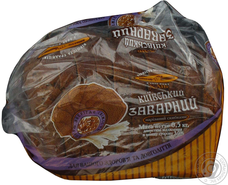Хлеб Киевхлеб Киевский заварной нарезка 500г