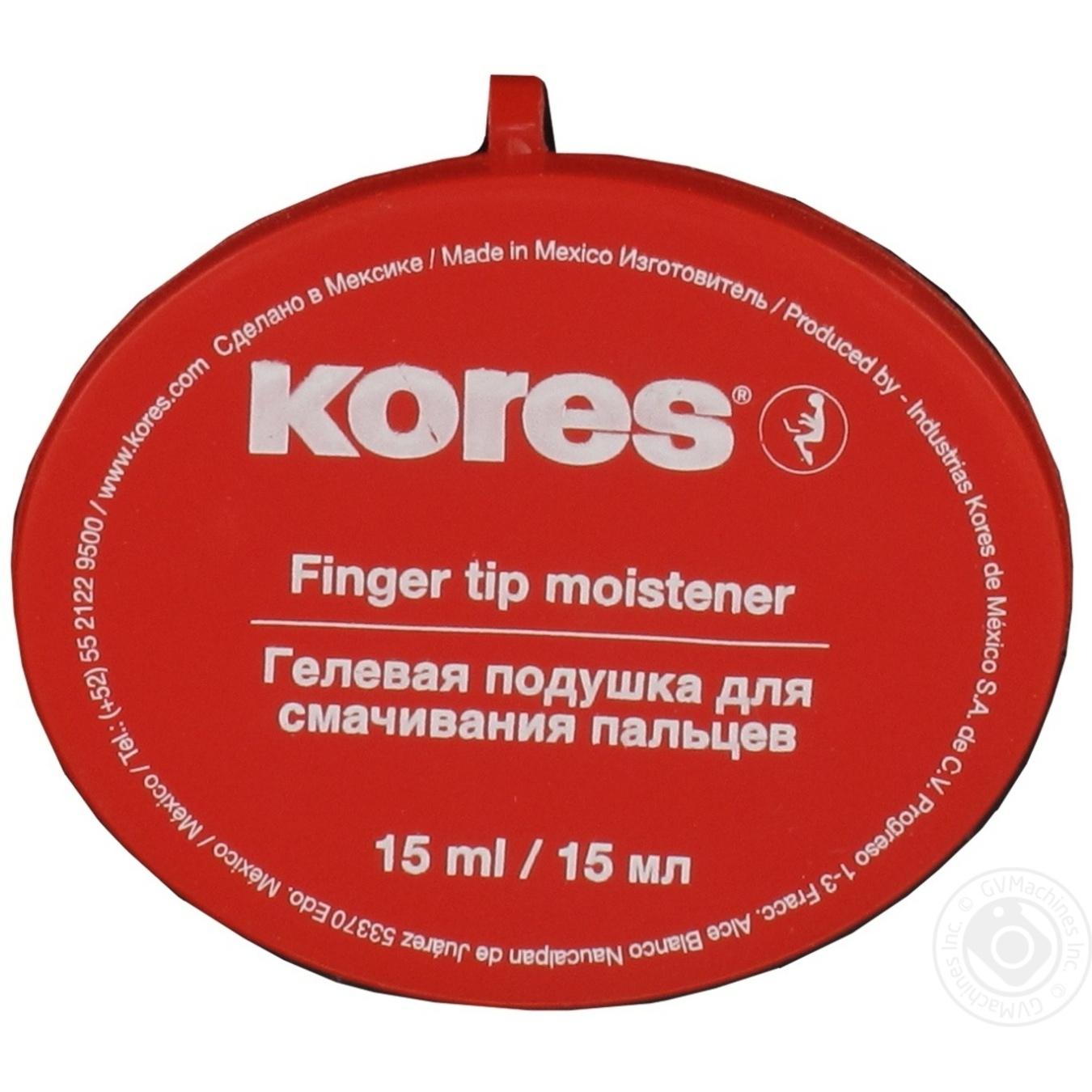 Увлажнитель для пальцев Kores гелевая подушечка 15г