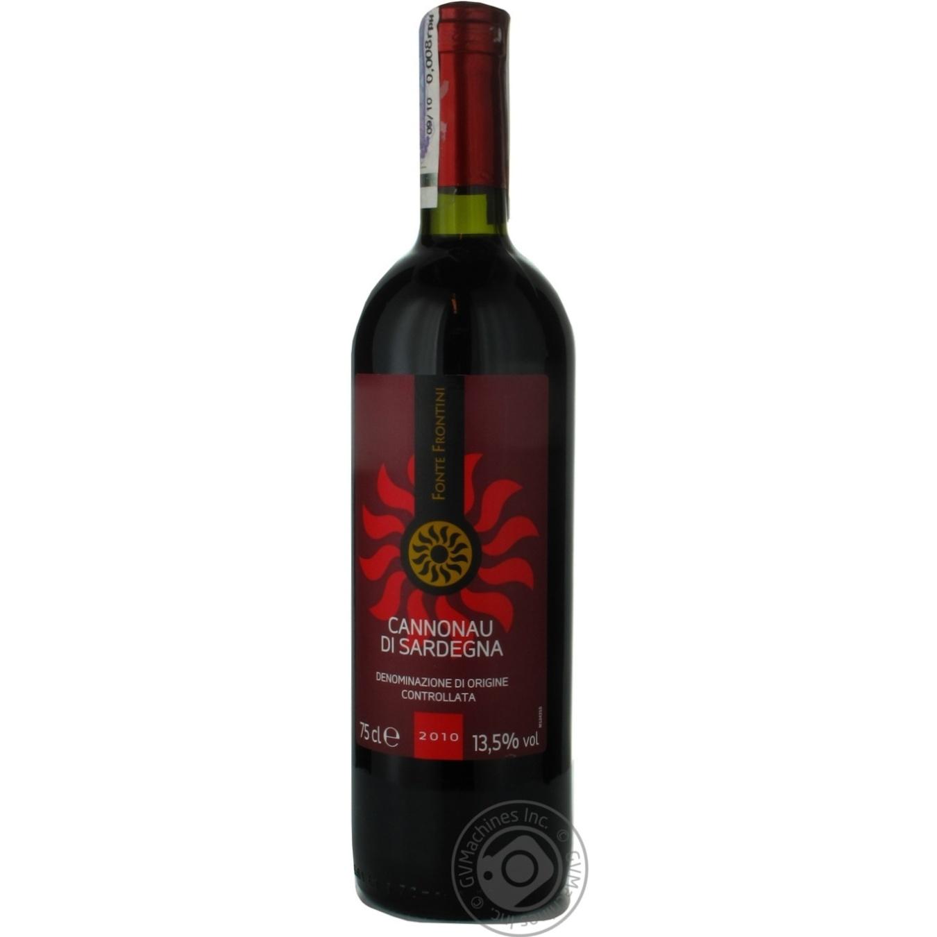 Вино Fonte Frontini Cannonau di Sardegna красное сухое 0,75л