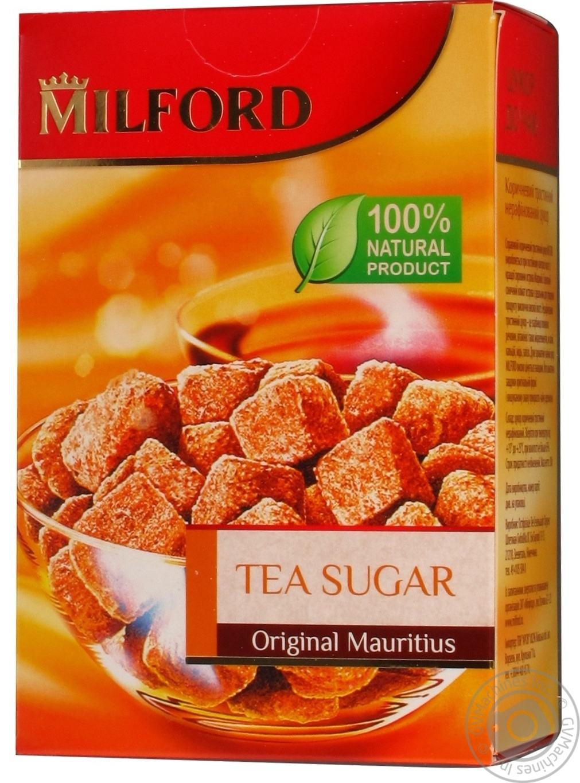 Сахар Милфорд к чаю тростниковый коричневый нерафинированный 300г